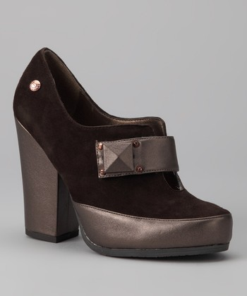Ebony & Brown Metallic Nala Bootie