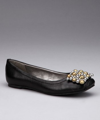 Black Tiffany Ballet Flat