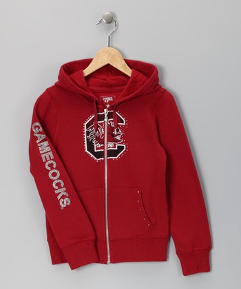 Cardinal South Carolina Summer Zip-Up Hoodie - Girls