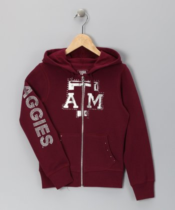 Maroon Texas A&M Summer Zip-Up Hoodie - Girls