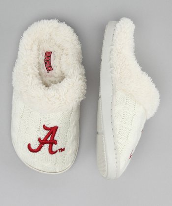 Campus Footnotes Cream Alabama Slipper - Kids