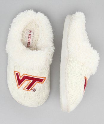 Cream Virginia Tech Slipper - Kids