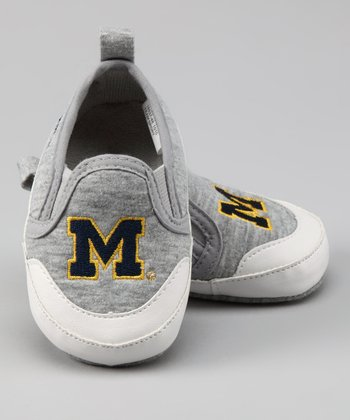 Campus Footnotes Gray Michigan Shoe