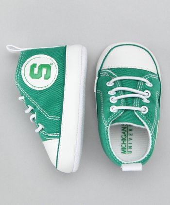 Campus Gear Green Michigan State Sneaker - Kids