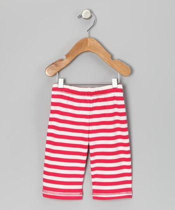 Canboli Fuchsia Stripe Organic Pants - Infant