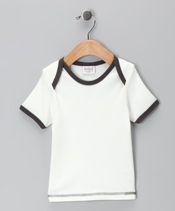 Canboli White & Gray Organic Short-Sleeve Tee - Infant