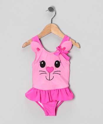 Pink Kitty One-Piece - Toddler