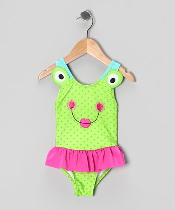 Green Frog One-Piece - Toddler