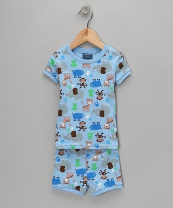 Blue Animal Pajama Set - Infant & Toddler