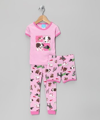 Pink Dog Pajama Set - Infant & Toddler