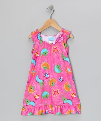 Pink Frog Moon Nightgown - Toddler & Girls