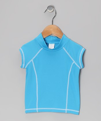 Blue Rashguard - Toddler & Girls