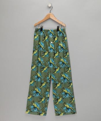 Green Dinosaur Pajama Pants - Boys