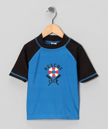 Blue Rescue Crew Rashguard - Boys