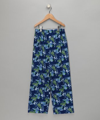 Blue BMX Pajama Pants - Boys