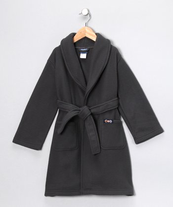 Gray Fleece Robe - Toddler