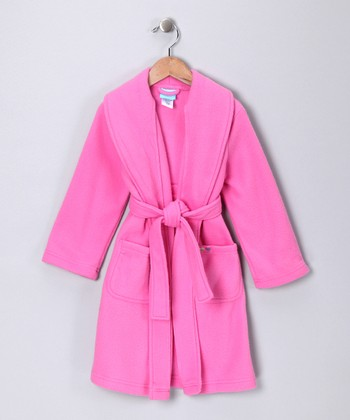 Pink Fleece Robe - Girls