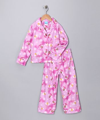 Pink Fairy Flannel Pajama Set - Toddler & Girls