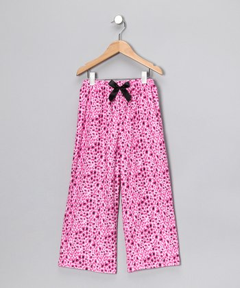 Pink Cheetah Flannel Pajama Pants - Girls