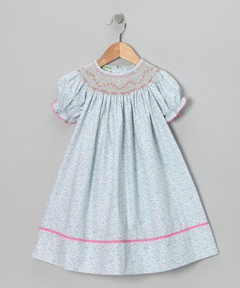 Candyland White Blueberry Bishop Dress