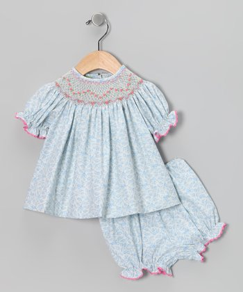 Candyland White Blueberry Top & Bloomers - Infant