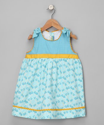 Turquoise Daisy Dress - Toddler & Girls