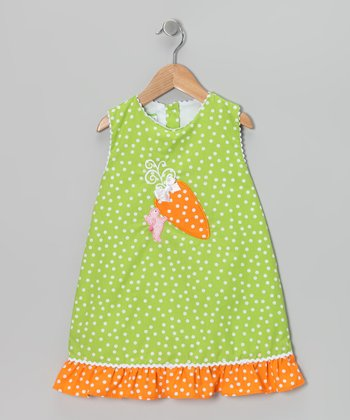 Green Carrot Swing Dress - Infant & Toddler