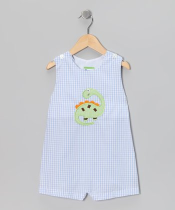 Blue Dino Shortalls - Infant