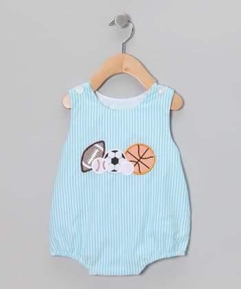 Turquoise Sports Bubble Bodysuit - Infant