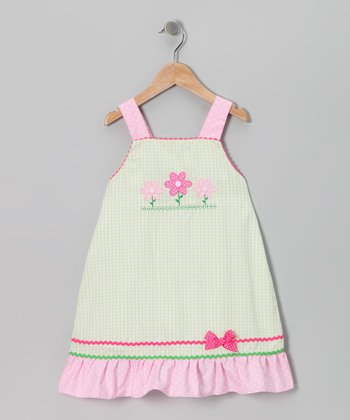 Green Flower Swing Dress - Infant, Toddler & Girls