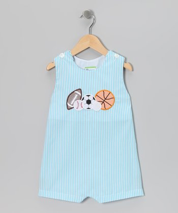 Turquoise Sports Shortalls - Infant
