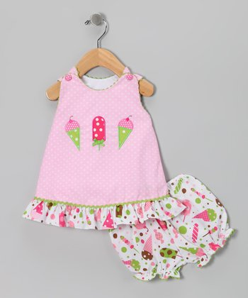 Pink Ice Cream Swing Top & Bloomers - Infant