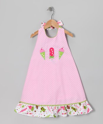 Pink Ice Cream Halter Dress - Infant