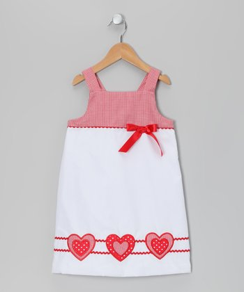 White Lots of Love Dress - Infant & Girls