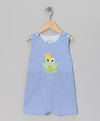 Royal Blue Frog Prince Shortalls - Infant