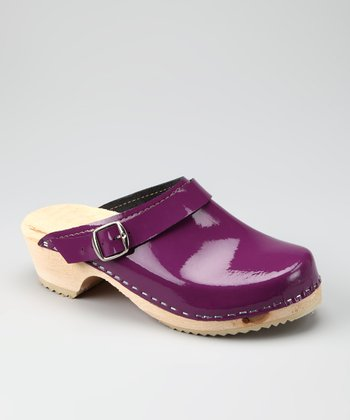 Purple Patent Clog - Women