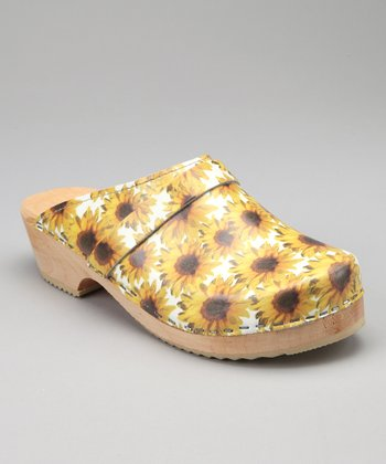 Yellow Sunflower Clog - Women