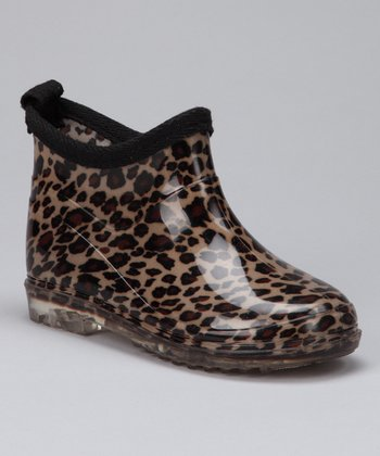 Leopard Ankle Rain Boot - Kids
