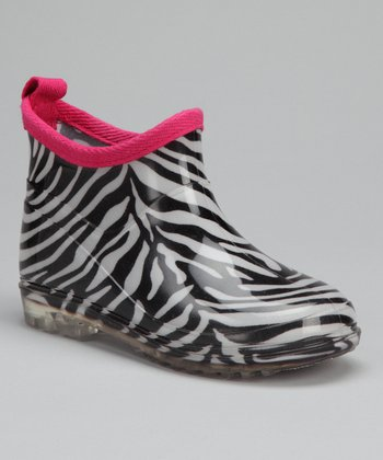 Zebra Ankle Rain Boot