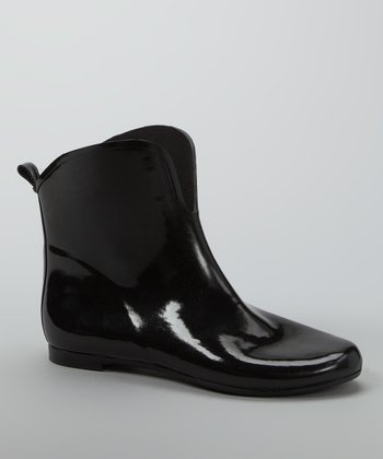 Black Short Rain Boot - Women