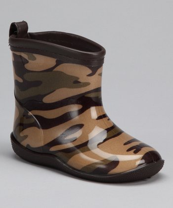 Brown Camouflage Racer Rain Boot