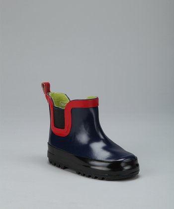 Navy Jodhpur Rain Boot