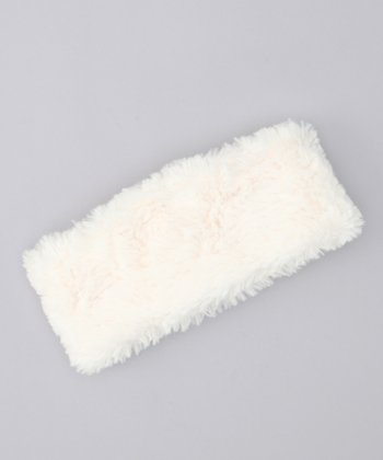 Pristine Ivory Faux Fur Head Wrap