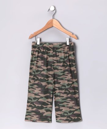 Gray Cool Camo Pajama Pants - Toddler & Boys