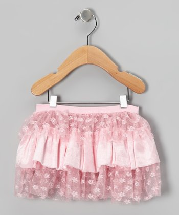 Pink Tier Ruffle Skirt - Toddler & Girls