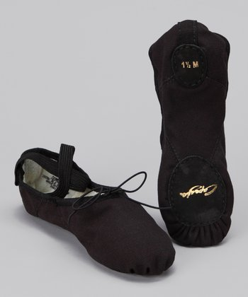 Black Juliet Suede Ballet Slipper
