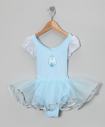 Blue Cinderella Skirt Leotard - Toddler & Girls