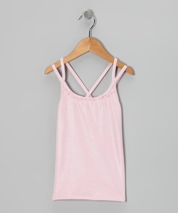 Pink Glisten Tank - Toddler & Girls