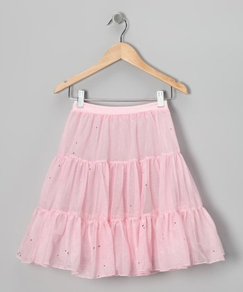 Pink Shimmer Pettiskirt - Toddler & Girls