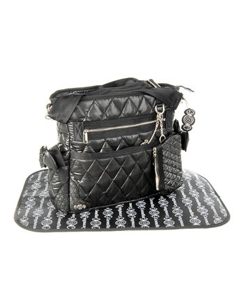 Black The Truffle Bow Diaper Bag
